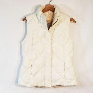 Eddie Bauer Goose Down Quilted Small Cream Vest